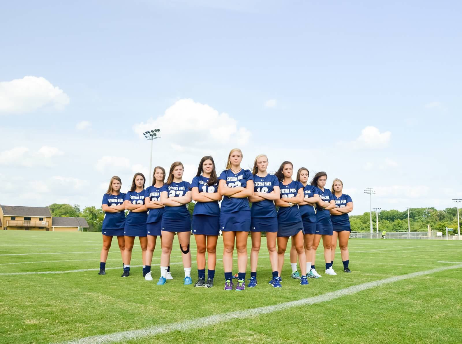 """Seniors Mallary Sellars, Megan Brannen and Rachel Lewis are leading the SPHS field hockey team to victory this season. The team has been working hard every day for redemption of the state champion title. """"Our goal is to win states this year, so we're working harder than ever,"""" said Sellars. Photo courtesy of Rachel Lewis."""