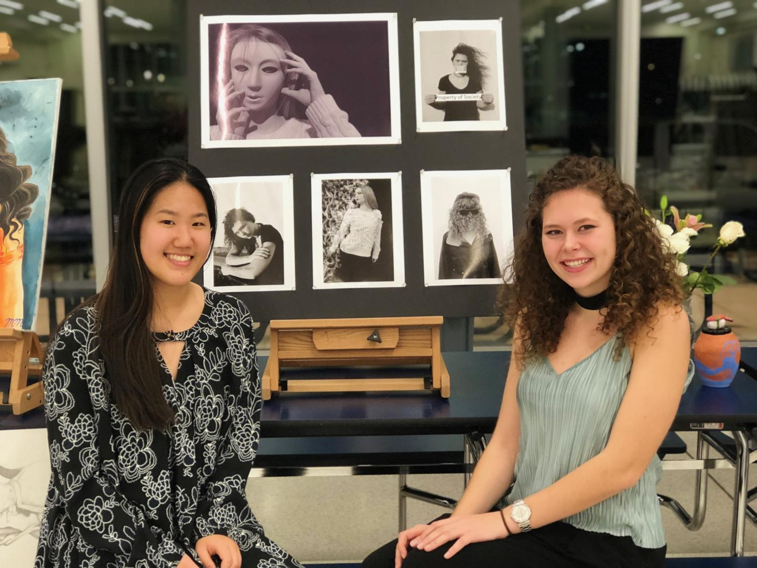 """Senior Raquel Sobczak was the subject of a piece, as well as the artist of two pieces. """"It's a great experience. We have all different types of art all in one event, and we get to see other people's talents,"""" Sobczak said."""