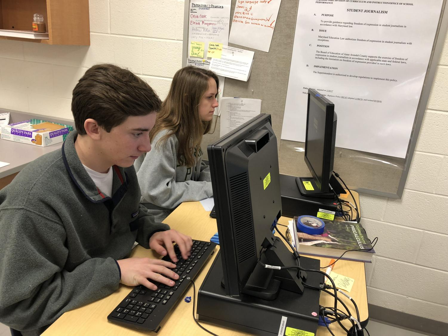 "Students take AP classes to earn college credit and show rigor. Although hard classes raise your GPA, taking too many could cause unnecessary stress. ""It is important to challenge yourself and show you are capable of taking on a tougher class to colleges,"" sophomore Rosslyn Scott said."