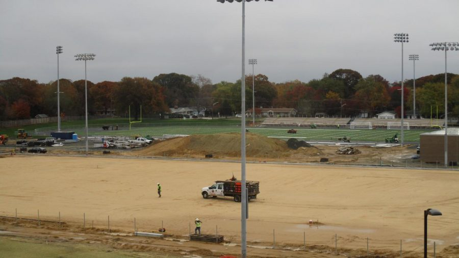 """As the fields near completion athletes are ready to say goodbye to Kinder, affectionately known as the farm. Students athletes have played and practiced at Kinder for the past 4 years as the school underwent construction.  It's going to be a lot of fun to have a real home field for the first time,"""" senior and varsity lacrosse player Dom Cipriano said."""