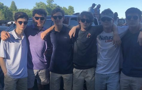 "Juniors Michael Frank, Alex Miller, Mikey Moreale, Tommy Gray, Robby Kershaw and Garrett Whitaker at Sunday in the Country. The concert happens every year and is hosted by 93.1 WPOC. ""I go for the music- there's a great atmosphere,"" Frank said."