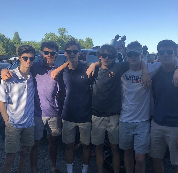 Juniors+Michael+Frank%2C+Alex+Miller%2C+Mikey+Moreale%2C+Tommy+Gray%2C+Robby+Kershaw+and+Garrett+Whitaker+at+Sunday+in+the+Country.+The+concert+happens+every+year+and+is+hosted+by+93.1+WPOC.+%E2%80%9CI+go+for+the+music-+there%E2%80%99s+a+great+atmosphere%2C%E2%80%9D+Frank+said.+