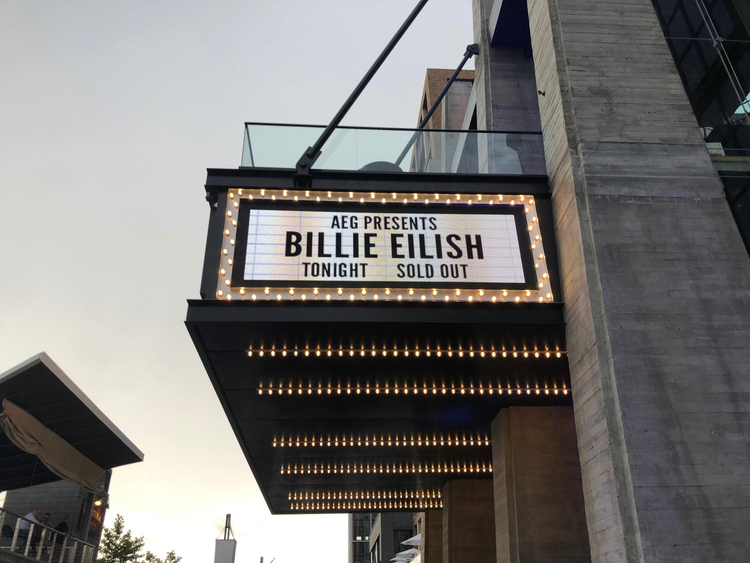 "Billie Eilish, writer and singer of ""bad guy"", plays a concert in the Anthem venue in Washington D.C. While her tour passed through the DMV in June, many Severna Park residents attended the concert. ""Billie was such an amazing performer, and her songs sounded even better live, in front of a sold-out audience,"" senior Maddy Gillin said."