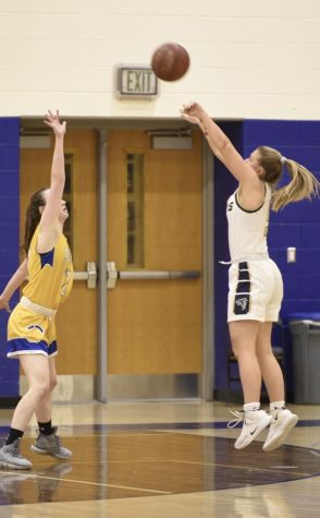"Senior Camryn Chew participates in basketball in the winter and lacrosse in the spring. She committed to play lacrosse at Loyola University Maryland in December 2018. ""This season I'm hoping to win the state championship,"" Chew said."