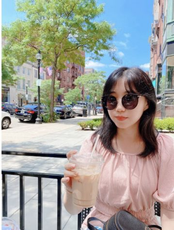 "Ms. Jang was able to travel to Boston this summer with family. ""After long hours of walking and touring around in the hot day, I came across a local coffee shop and asked for the sweetest iced coffee they served. The cup of coffee was one of the most refreshing I have ever had,"" Jang said."