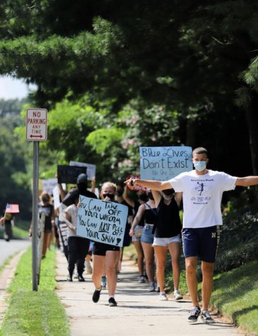 SPHS at a Black Lives Matter protest this past summer. Marches like this occurred all throughout the summer across the country for the end of racism and police brutality.