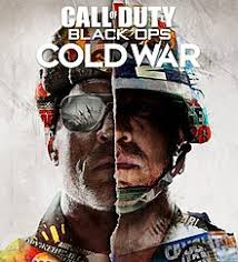 """""""Call of Duty Cold War"""" is a first person shooter game that takes place during the Cold War tension between the United states of America and the Soviet Union. The game takes place in locations all over Europe and Russia. One side of the photo shows an American soldier covered in propaganda, and the other half is the same for the Soviet."""