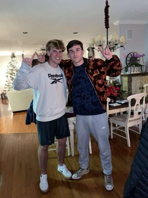 """Owner of Boat Junkies Aiden Milewski (right) and his head of marketing Trey Smack (left). Milewski started Boat Junkies in October and recently hired Smack to help him with advertising. """"Despite what most would consider a less than qualified application, I've been pleased with what he has been able to do and contribute to the business,"""" Milewski said."""