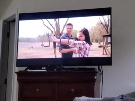 """Since the release of Disney+, most Marvel movies are available to watch on the streaming platform in chronological order. MCU fans are taking advantage of this and binge watching the whole series. The clip shown in the picture is from """"Avengers:Endgame."""""""