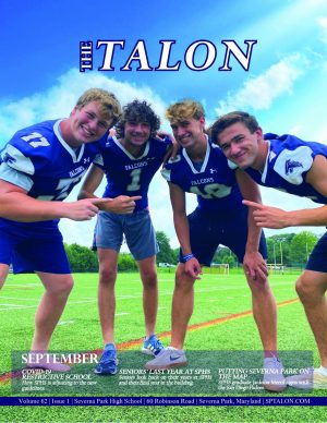 The September print issue of the school paper, The Talon, is now available online and in the stacks.